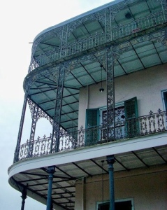 Wrought Iron Wrap-around balconies