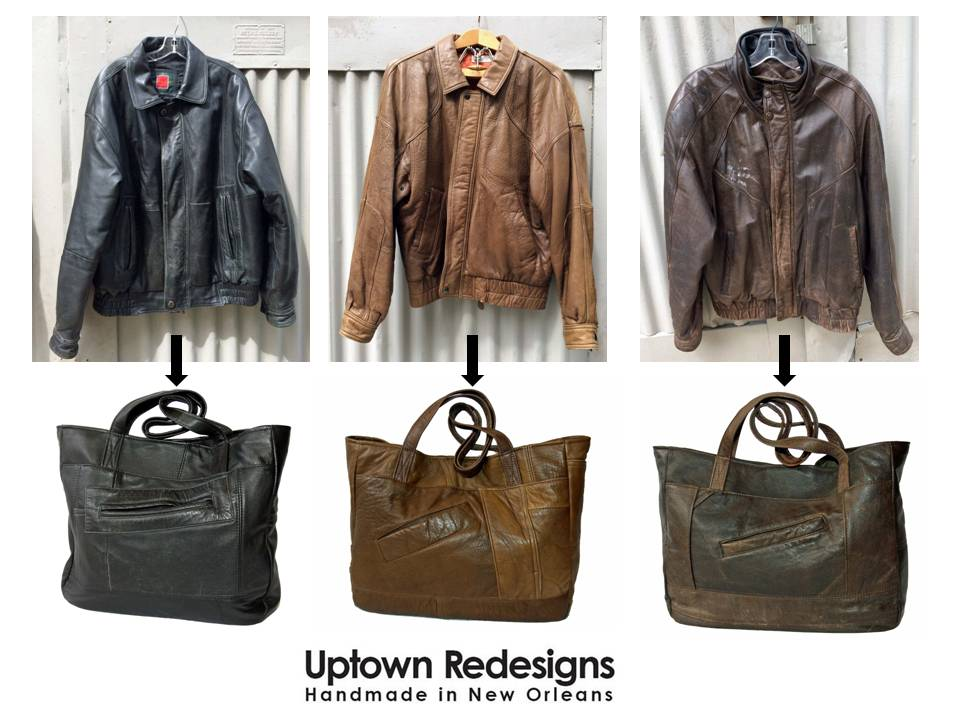 Uptown Redesigns Upcycled Leather Bags